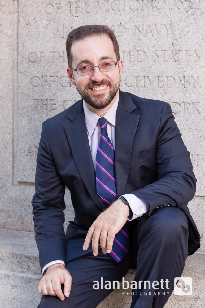 Attorney portrait in Madison Square Park