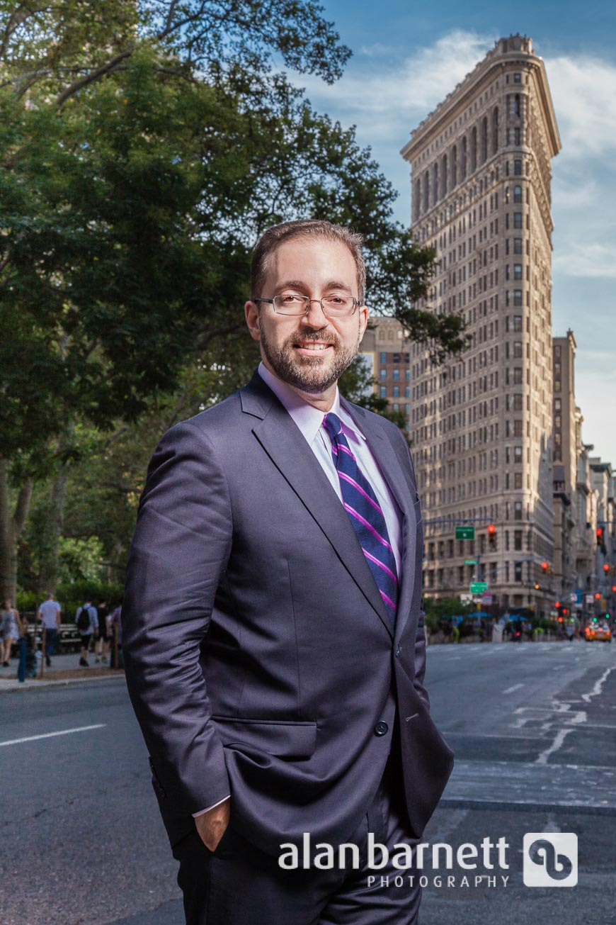 Attorney portrait at Flatiron Building