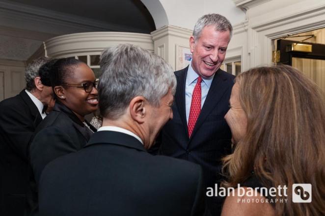 New York City Mayor Bill DiBlasio at Brooklyn Kindergarten Society's Yuletide Ball