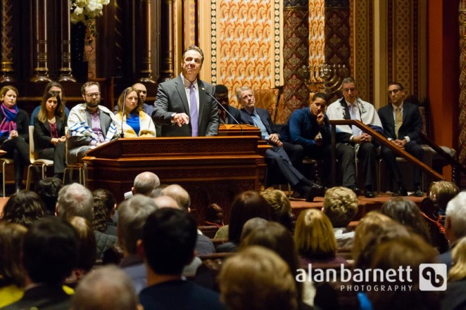 New York Governor Andrew Cuomo joins the NYC faith community at Central Synagogue to call for age-appropriate treatment for youth in the criminal justice system