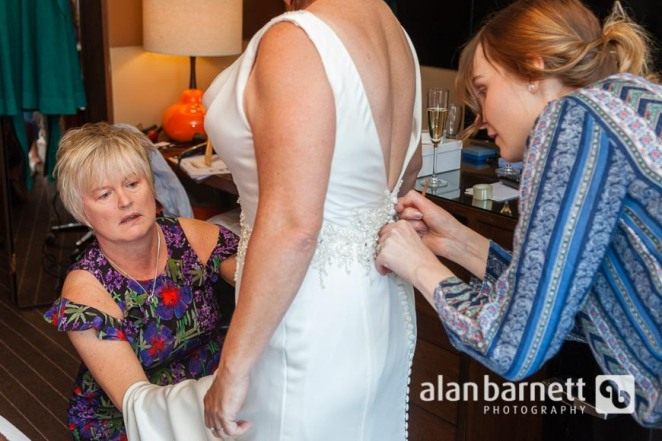 Helen prepares for her wedding at Roxy Hotel Tribeca