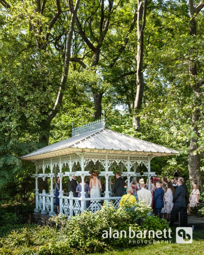 Helen and Claire's wedding at Ladies Pavilion in Central Park