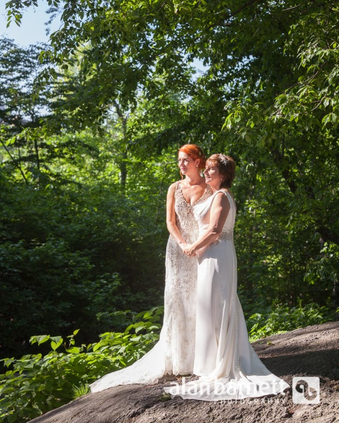 Helen and Claire's wedding in Central Park