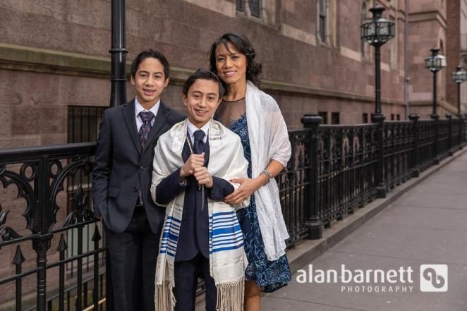 Joshua's Bar Mitzvah Portraits at Central Synagogue