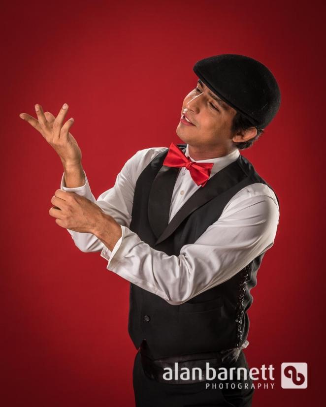 Abel Rey Performed His Burlesque Act in the Studio