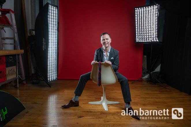Cabaret Singer Poses for Studio Portraits