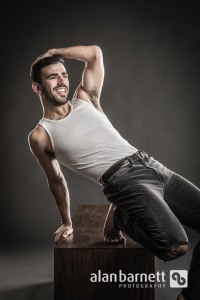 Young Actor Poses in the Studio